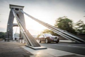 Rolls-Royce Wraith sur un pont suspendu à Bristol
