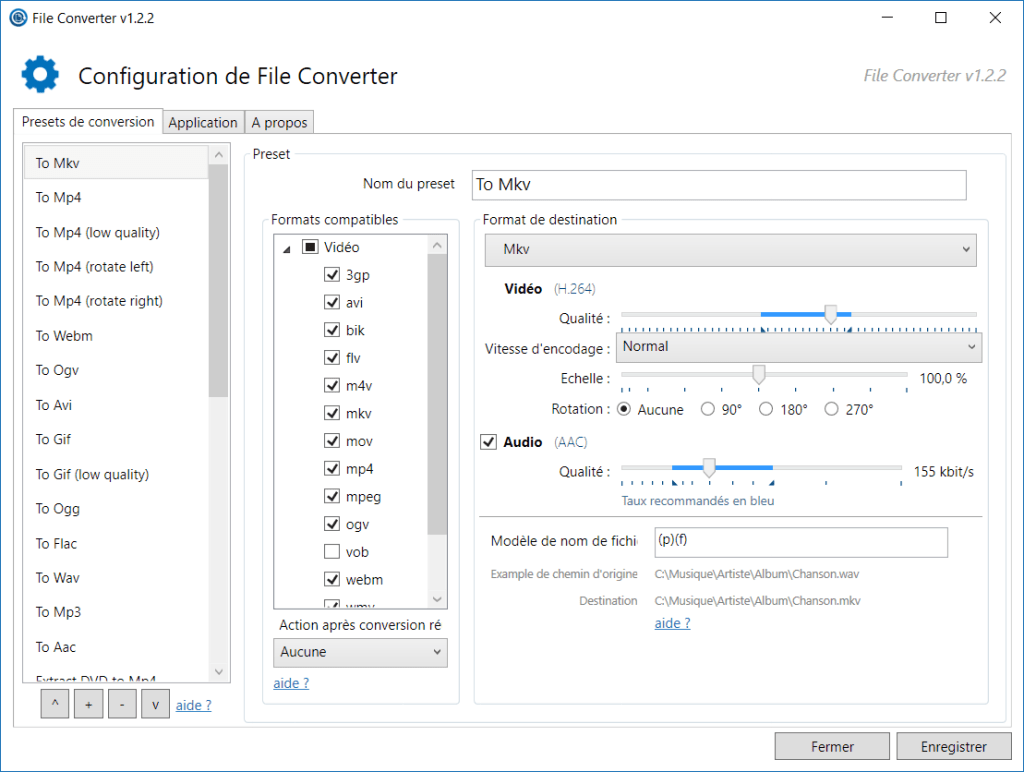 Interface de File Converter
