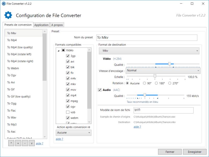 Interface de File Converter