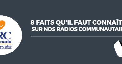En-tête de l'infographie sur les faits concernant les radios communautaires