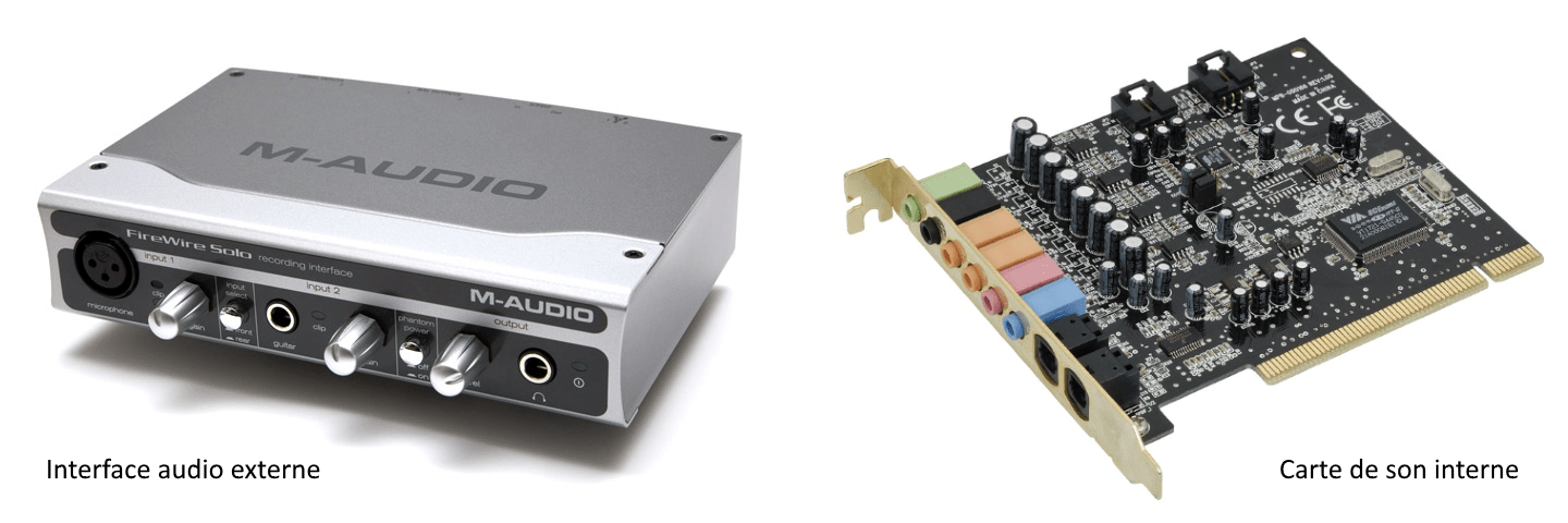 Interface audio vs. carte de son