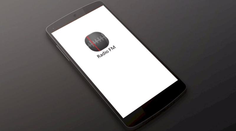 Un téléphone cellulaire avec la radio FM