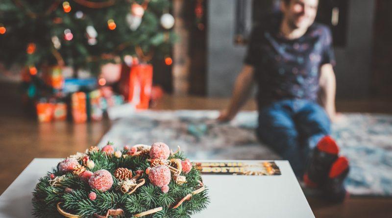 Scène de Noël dans une demeure