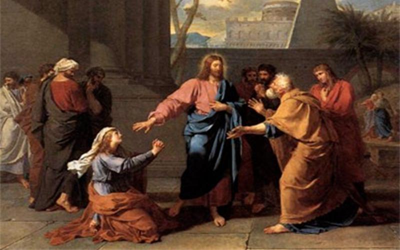 Resultado de imagen para «¡Ten piedad de mí, Señor, hijo de David! Mi hija está malamente endemoniada» (...). Él respondió: