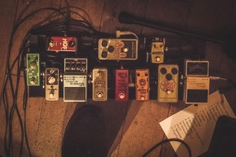 Pedal board, Railway Tavern 31.10.15