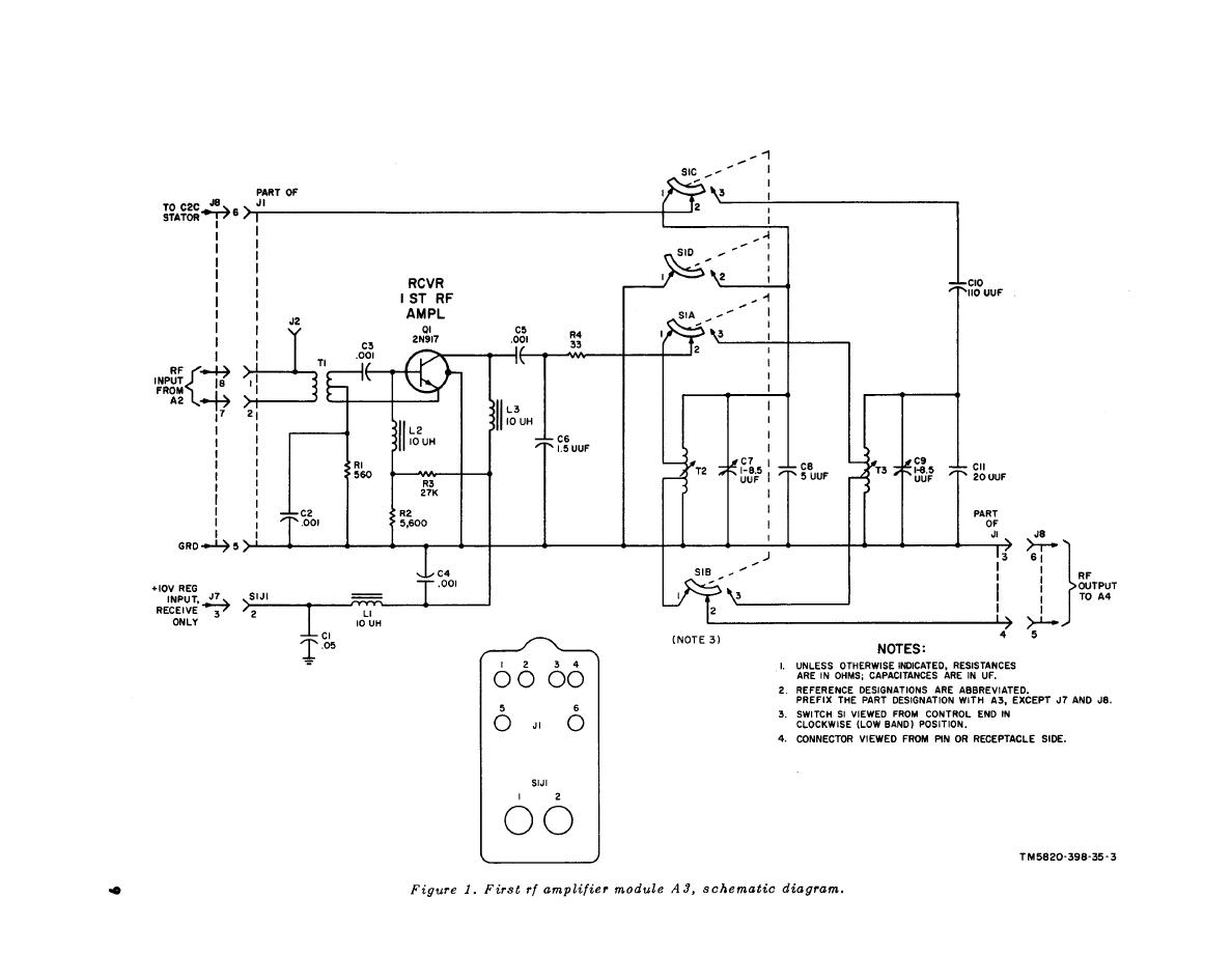 Figure 1 First Rf Amplifier Module A3 Schematic Diagram
