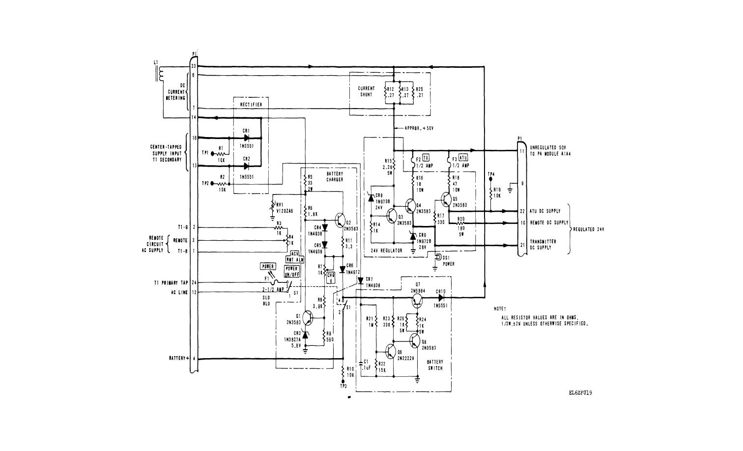 Fo 4 Power Supply A1a1 Schematic Diagram
