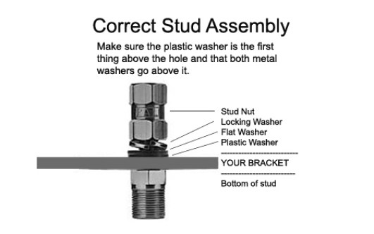 correct stud assembly