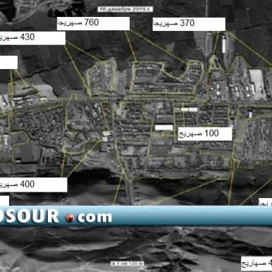 صور فضائية لمحيط زاخو تظهر تواجد قرابة 12 ألف ناقلة نفط على الحدود العراقية التركية