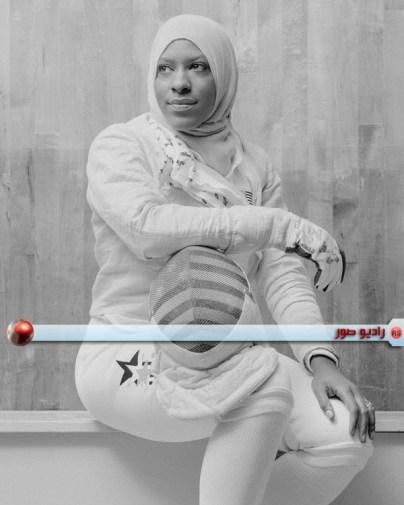 لاعبة رياضة المبارِزة بالسيف إبتهاج محمد
