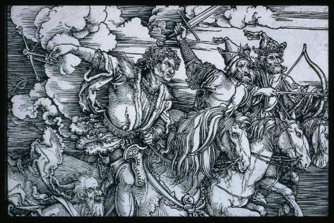 albrecht-dc3bcrer-the-four-horsemen-apocalypse-probably-1497-98-painting-artwork-print