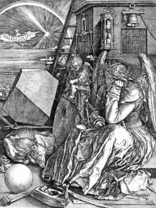 """""""Melancolia I"""", incisione ad opera del cabbalista Albrecht Dürer"""