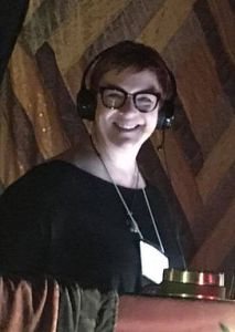 Rebekkah Hilgraves, host of The Edges of Dreaming. Picture taken at Electro-Music Asheville, March 2018