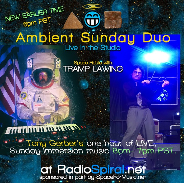 Ambient Sunday Duo Tonight – Space Fiddle w/Tramp Lawing