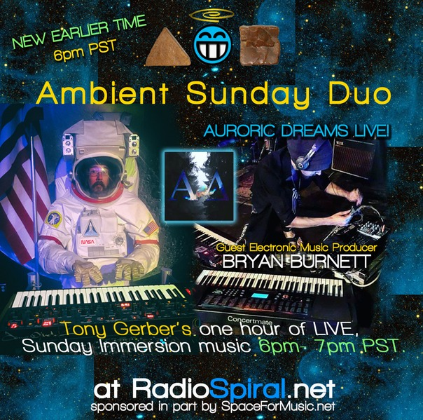 Ambient Sunday Duo feat. AURORIC DREAMS – 6pm EST