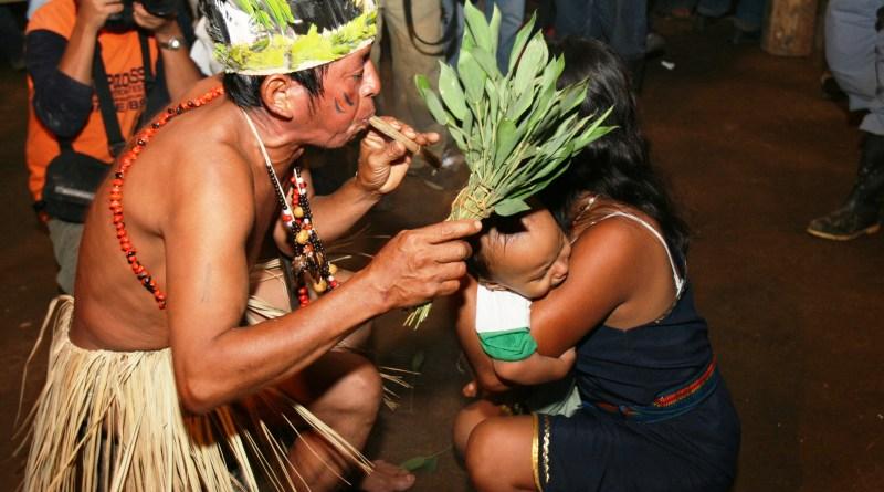 Cumbre de medicina ancestral en el 2016, foto tomada de la secretaria del buen vivir