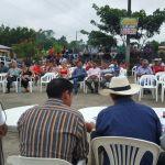 Quienes conforman en comité pro-construcción anillo vial Jorge Aguilera exige información del convenio entre OCP y Municipio de Lago Agrio.