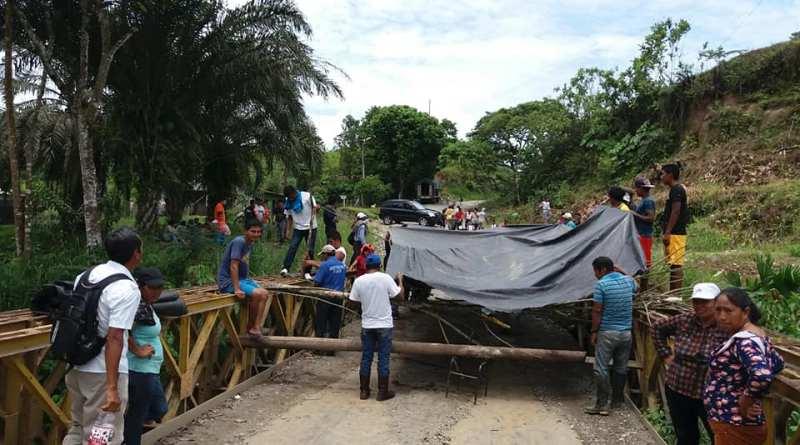 El lunes 09 de abril a las 11h30 horas aproximadamente, habitantes de las comunidades de la vía al Guanta quienes se mantenían en una medida de hecho desde el jueves anterior, fueron desalojados de la vía donde se encontraban a la altura del recinto Rivereños 2, posteriormente en la comunidad Sinchi Urco.