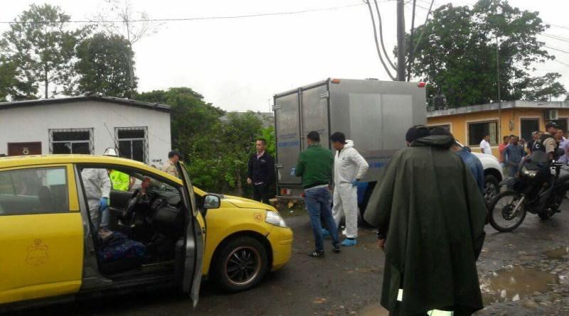 Jorge Celi taxista de la unidad 42 de la Cooperativa de taxis Oro Negro fue asesinado en el barrio Cañaveral en la ciudad de Nueva Loja.