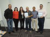 Entrega do Plano – Rafael, equipe de consultoras, Sérgio, Mané Ferrari e Jean