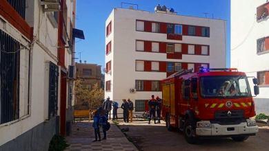 صورة إخماد حريق قارورة غاز بروبان داخل مسكن عائلي بإحدى عمارات حي الإخوة سعدي