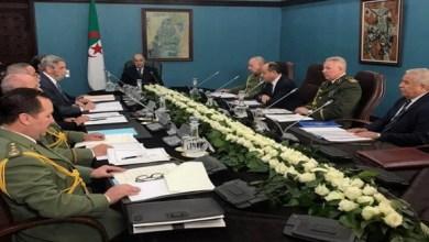 صورة الرئيس تبون يترأس الاجتماع الدوري للمجلس الأعلى للأمن
