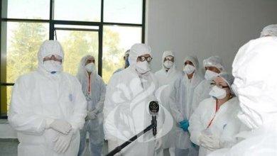 صورة جراد يتفقد بالبليدة مصلحة جديدة للانعاش مخصصة للمصابين بفيروس كورونا