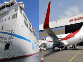 صورة كورونا : تعليق مؤقت للرحلات الجوية و البحرية بين الجزائر و فرنسا