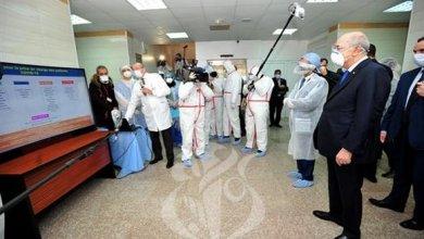 صورة رئيس الجمهورية يتفقد عدد من الهياكل الصحية في العاصمة