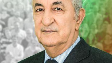صورة رئيس الجمهورية يبعث برسالة تعزية إلى عائلة الفقيد المؤرخ عبد المجيد مرداسي