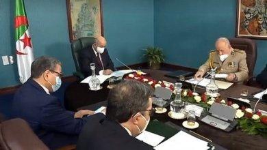 صورة اجتماع المجلس الأعلى للأمن حول تقييم الوضع العام في البلاد على ضوء التطورات المرتبطة بجائحة كوفيد-19
