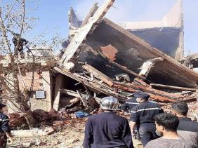 صورة حادث انفجار الغاز بالبيض : 5 قتلى و16 جريحا