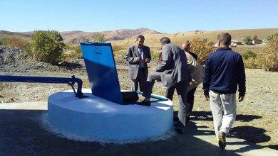 صورة إستفادة أولاد علال ببلدية تيدة من بئر لمياه الشروب