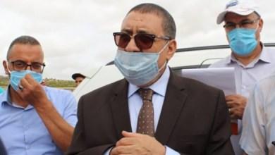صورة مستشار رئيس الجمهورية المكلف بمناطق الظل السيد ابراهيم مراد في زيارة رسمية إلى ولاية تيارت