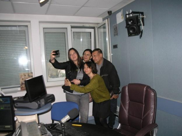 Un selfie la Radio Timişoara cu Dana Florea.