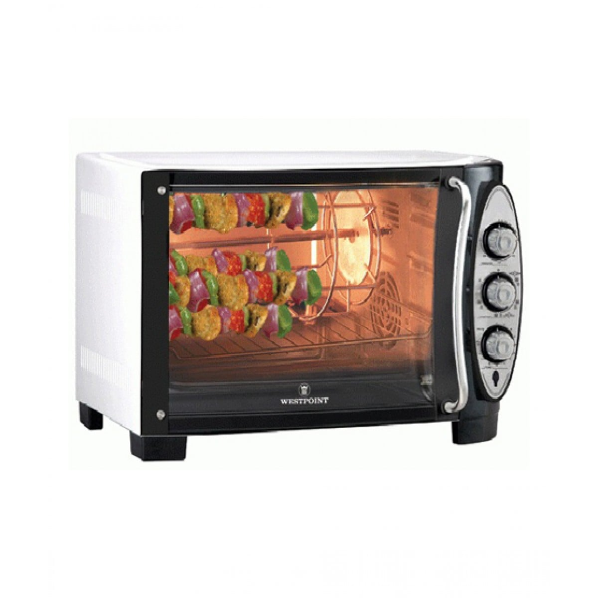 wf 4800r westpoint electric oven grill rotisserie 1800 watts 55ltr