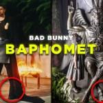 ¿Nueva religión? Bad Bunny se deja ver con falda y patas de cabra en «representación» a Baphomet (VIDEO)