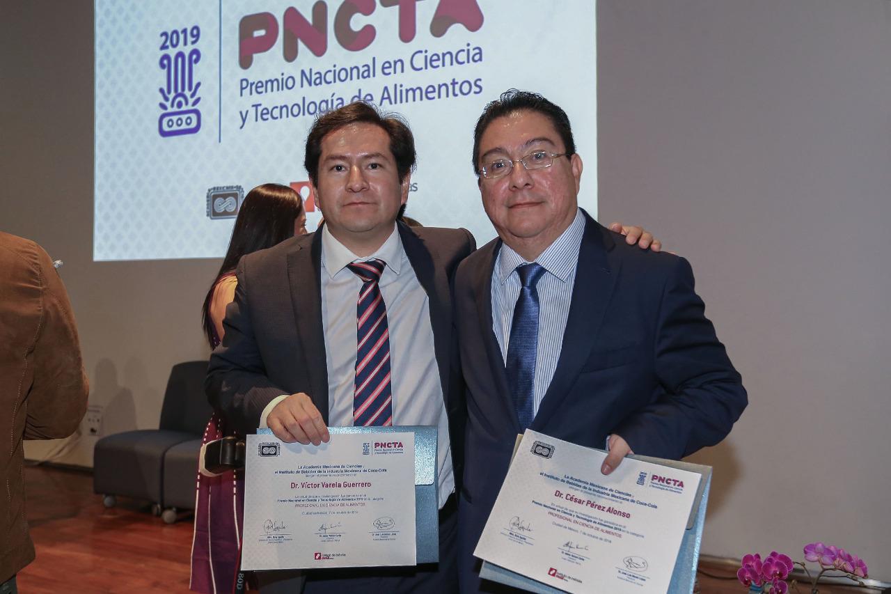 GANAN INVESTIGADORES DE UAEM PREMIO NACIONAL EN CIENCIA Y TECNOLOGÍA DE ALIMENTOS 2019