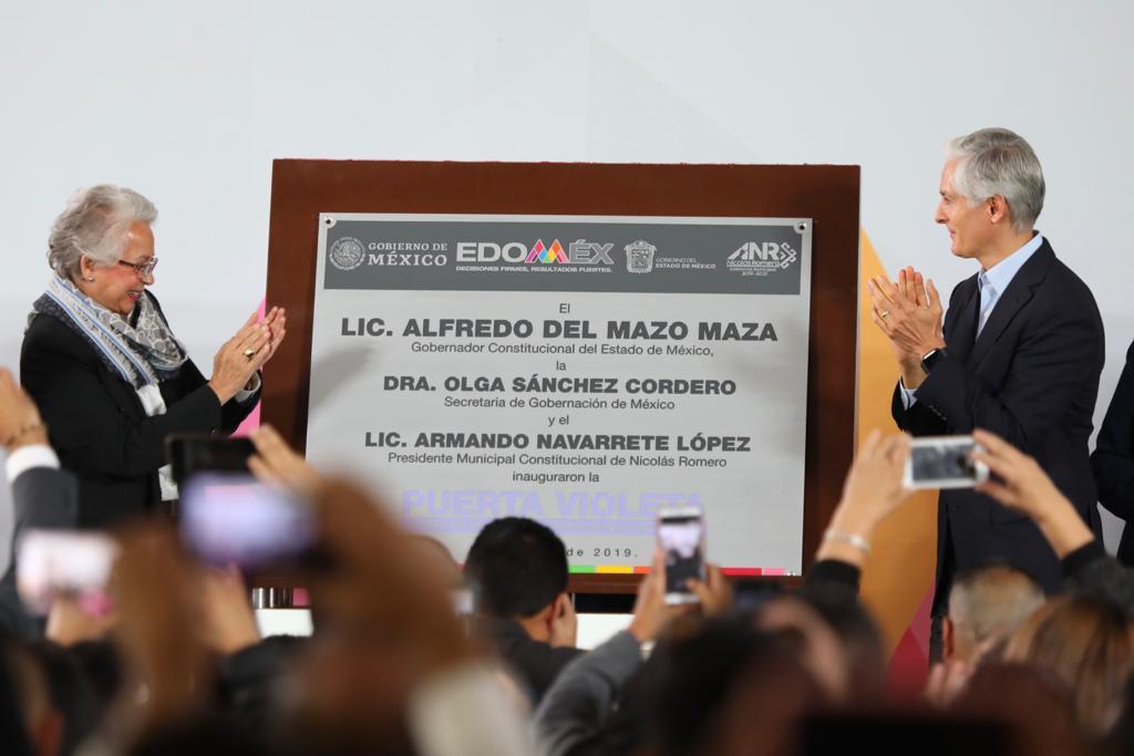 """OLGA SÁNCHEZ CORDERO Y ALFREDO DEL MAZO PONEN EN MARCHA ESTRATEGIA """"PUERTAS VIOLETAS"""""""