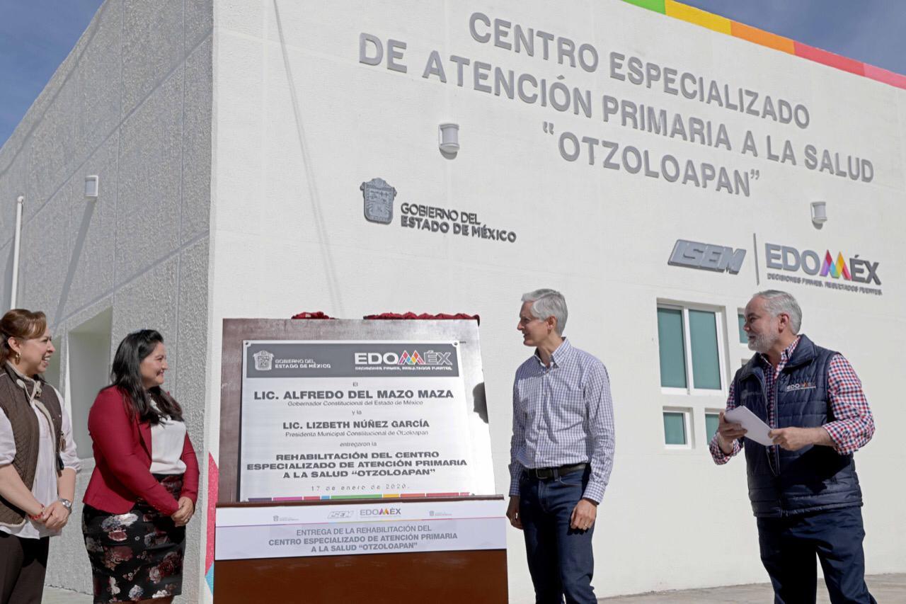 ALFREDO DEL MAZO ENTREGA CENTRO ESPECIALIZADO DE ATENCIÓN PRIMARIA A LA SALUD EN OTZOLOAPAN