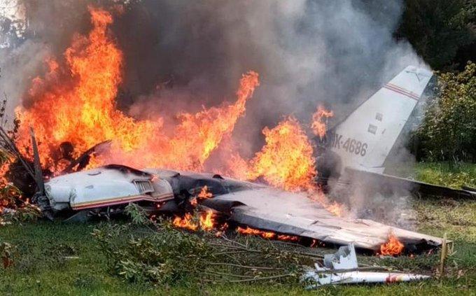 AVIONETA SE ACCIDENTA Y DEJA CUATRO MUERTOS EN BOGOTÁ, COLOMBIA