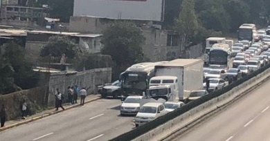 SE REGISTRA ACCIDENTE EN LA AUTOPISTA MÉXICO-TOLUCA