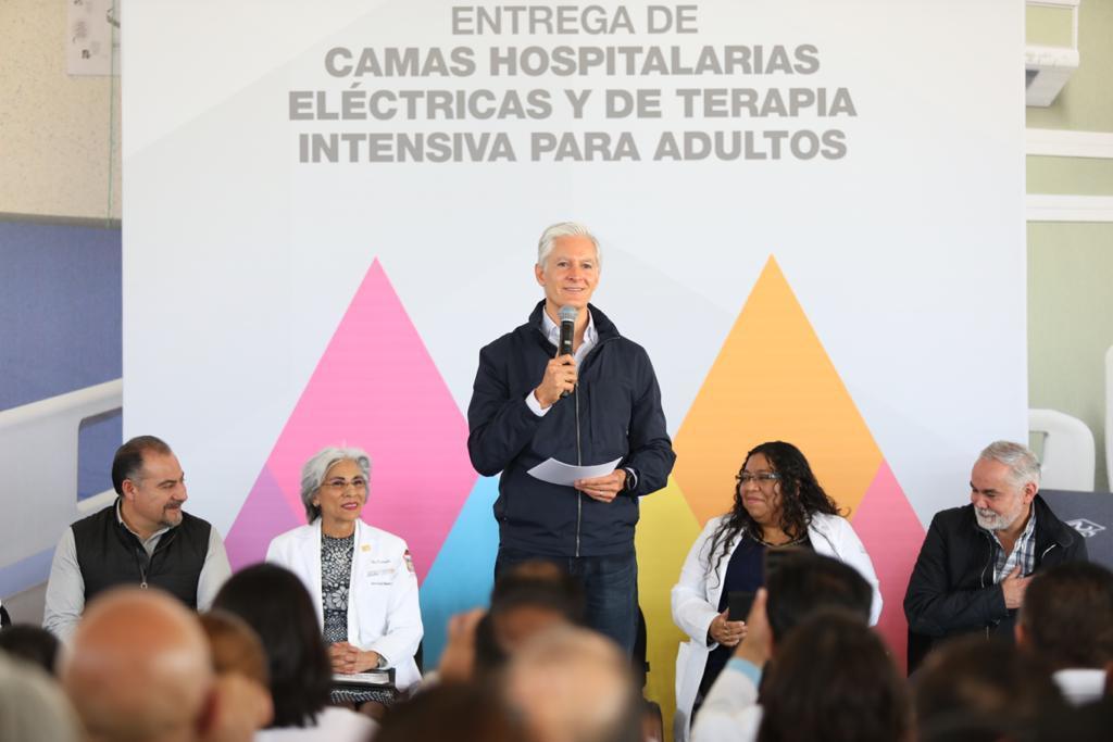 ENTREGA ALFREDO DEL MAZO MÁS DE MIL 300 CAMAS PARA MEJORAR ATENCIÓN MÉDICA EN 32 HOSPITALES PÚBLICOS