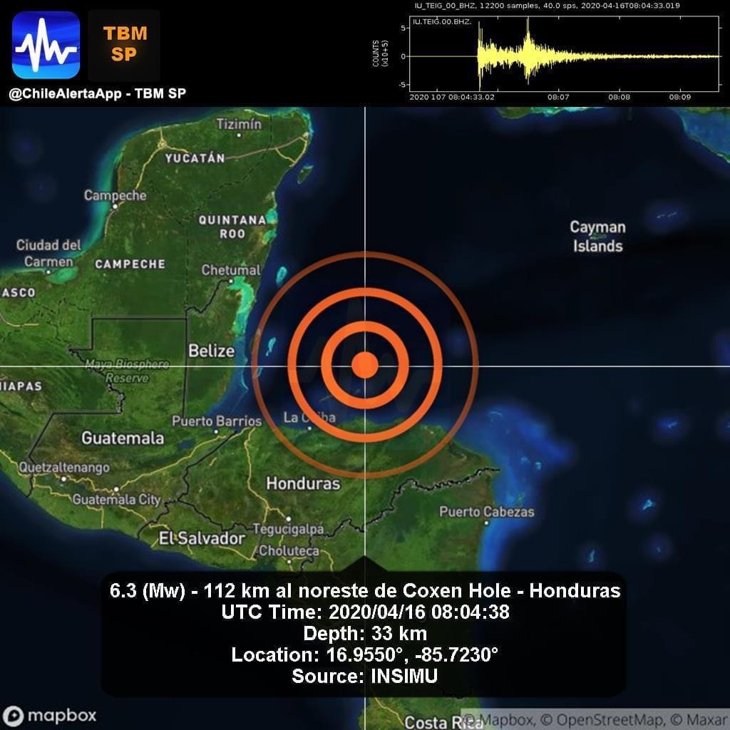 SISMO DE 6.3 EN HONDURAS SACUDE QUINTANA ROO
