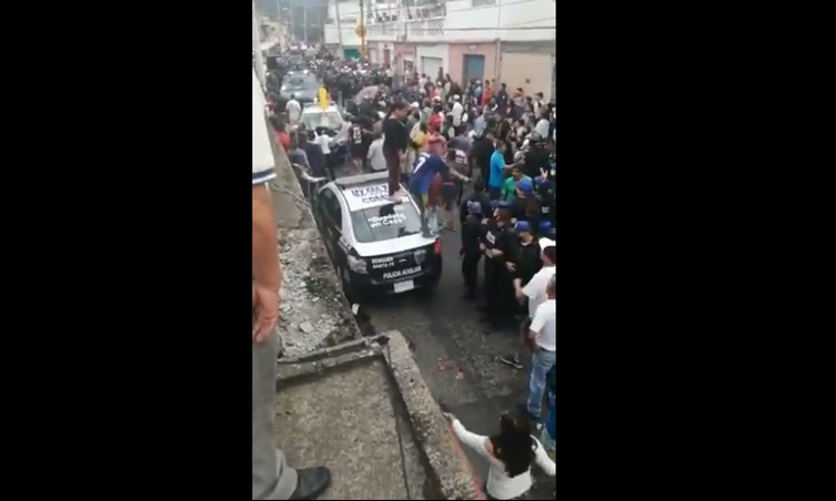 MOVILIZACIÓN POLICIACA EN CUAJIMALPA POR INTENTO DE LINCHAMIENTO