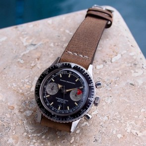 nivada grenchen aviator sea diver gray subdials