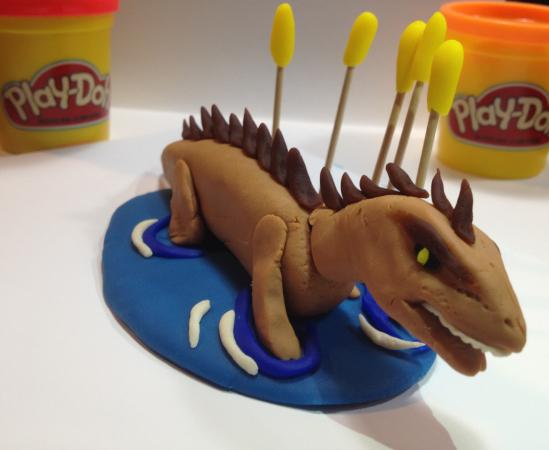 """Swimming """"Play-Doh""""saurus by Andrew Krapsho"""