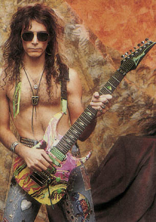 Steve Vai photo in his firts solo carreer