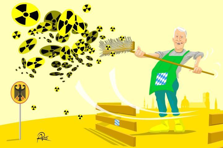Die CSU wehrt sich dagegen, dass Bayern in die Suche nach einem Atomendlager einbezogen wird, obwohl ein großer Teil des in Deutschland produzierten Atommülls aus Bayern stammt.
