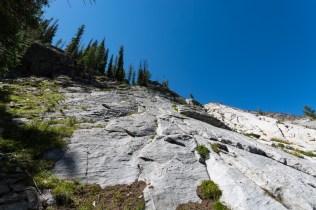 The cliffs we struggled down
